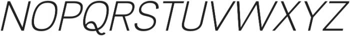 Divulge Light Italic otf (300) Font UPPERCASE