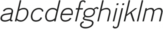 Divulge Light Italic otf (300) Font LOWERCASE