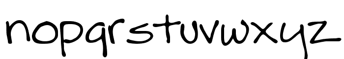 Dik Regular Font LOWERCASE