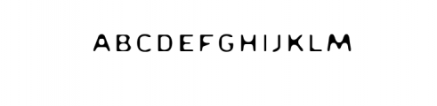 Disappear.ttf Font UPPERCASE