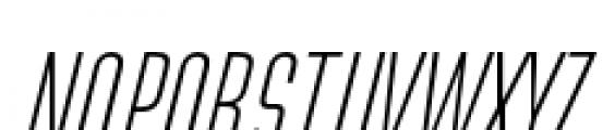 Directors Gothic 210 Light Oblique Font UPPERCASE