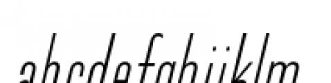 Directors Gothic 210 Light Oblique Font LOWERCASE