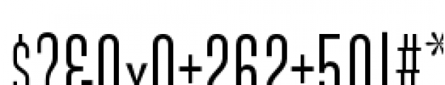 Directors Gothic 210 Regular Font OTHER CHARS