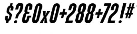 Directors Gothic 210 Semi Bold Oblique Font OTHER CHARS