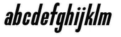 Directors Gothic 210 Semi Bold Oblique Font LOWERCASE
