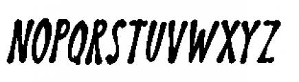 Discolicious Italic Font UPPERCASE