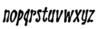 Discolicious Italic Font LOWERCASE