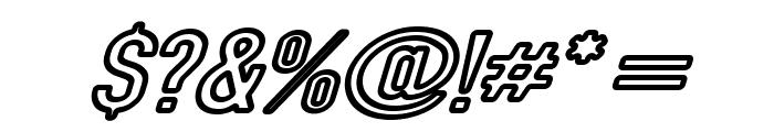 DIN Rundschrift Breit KonturKursiv Font OTHER CHARS