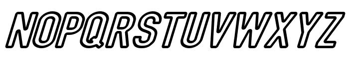 DIN Rundschrift Breit KonturKursiv Font UPPERCASE