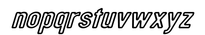 DIN Rundschrift Breit KonturKursiv Font LOWERCASE