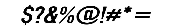 DIN Rundschrift BreitKursiv Font OTHER CHARS