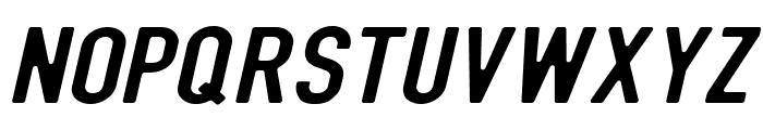 DIN Rundschrift BreitKursiv Font UPPERCASE