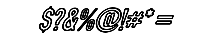 DIN Rundschrift Eng KonturKursiv Font OTHER CHARS