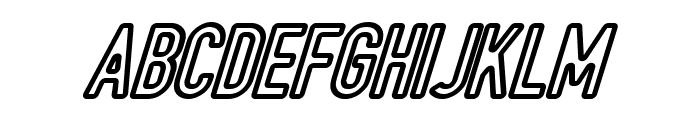 DIN Rundschrift Eng KonturKursiv Font UPPERCASE