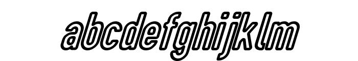 DIN Rundschrift Eng KonturKursiv Font LOWERCASE