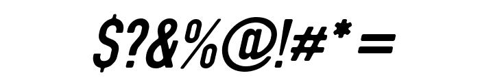 DIN Rundschrift EngKursiv Font OTHER CHARS