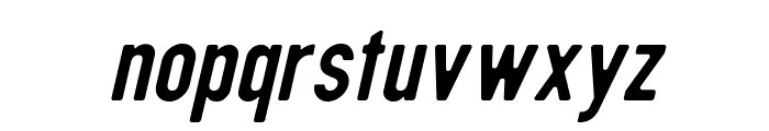 DIN Rundschrift EngKursiv Font LOWERCASE