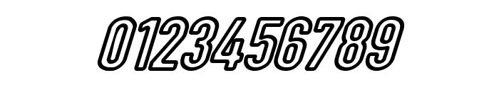 DIN Rundschrift Mittel KonturKursiv Font OTHER CHARS