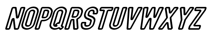 DIN Rundschrift Mittel KonturKursiv Font UPPERCASE