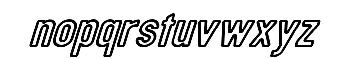 DIN Rundschrift Mittel KonturKursiv Font LOWERCASE