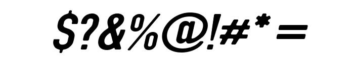 DIN Rundschrift MittelKursiv Font OTHER CHARS