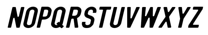 DIN Rundschrift MittelKursiv Font UPPERCASE