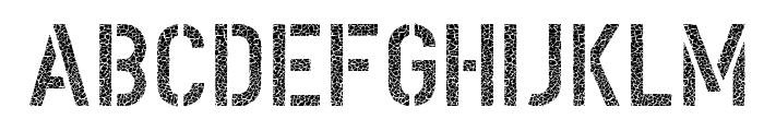 DINSchablonierschriftCracked Font UPPERCASE