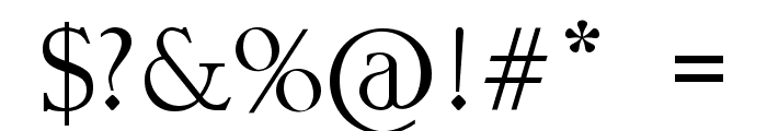 DIOMIRA Font OTHER CHARS