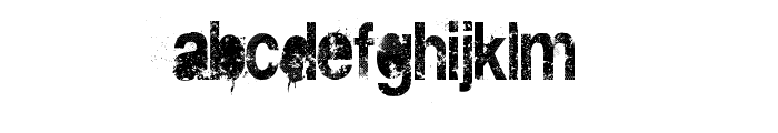 DIRT2 DEATH Font LOWERCASE