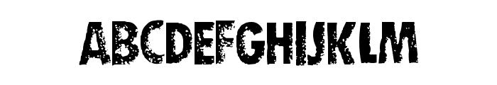 DIRTY SOCKS SKINNY Font UPPERCASE
