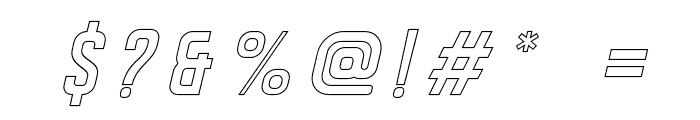 DISPLAYEDObliqueoutline Font OTHER CHARS