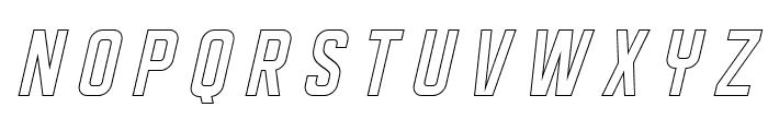 DISPLAYEDObliqueoutline Font UPPERCASE