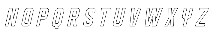 DISPLAYEDObliqueoutline Font LOWERCASE