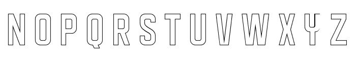 DISPLAYEDoutline Font UPPERCASE