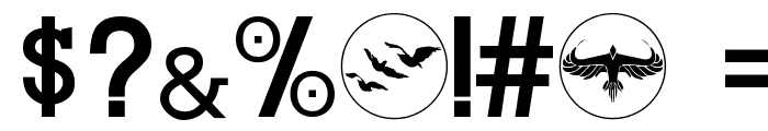 DIVERGENT Font OTHER CHARS