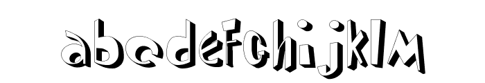 DiPed Thick Font LOWERCASE