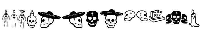 Dia De Los Muertos OT Font UPPERCASE