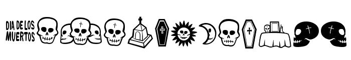 Dia De Los Muertos OT Font LOWERCASE