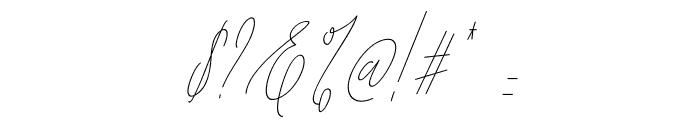 Diamante Signature_Italic Font OTHER CHARS