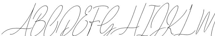 Diamante Signature_Italic Font UPPERCASE