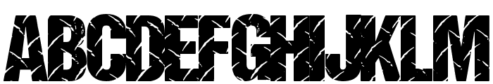 DiamondPlate Font UPPERCASE