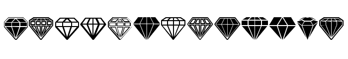 Diamondo Regular Font LOWERCASE