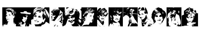 Diana the Princess Font UPPERCASE