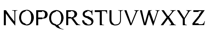 Dichotomy Regular Font LOWERCASE