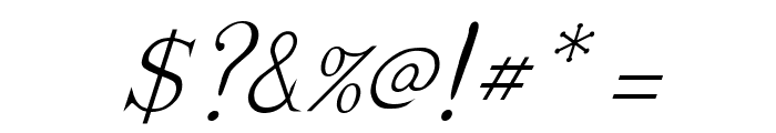Dickens Italic Font OTHER CHARS