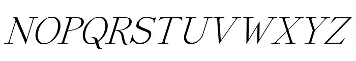 Dickens Italic Font UPPERCASE
