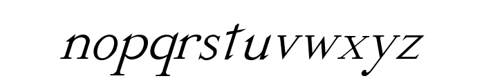 Dickens Italic Font LOWERCASE