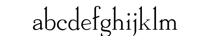 Dickens Regular Font LOWERCASE
