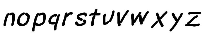 Dictator Italic Font LOWERCASE