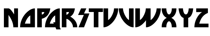 Die Nasty Regular Font UPPERCASE